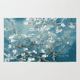 Vincent Van Gogh Almond Blossoms Teal Rug
