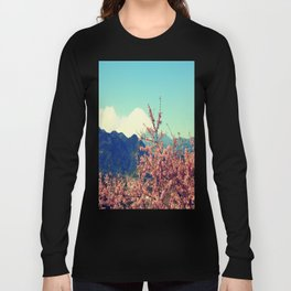 Mountains & Flowers Landscape Long Sleeve T-shirt