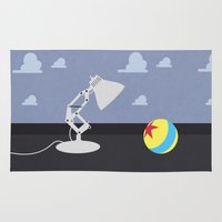 pixar Area & Throw Rugs featuring Luxo Jr. by avoid peril