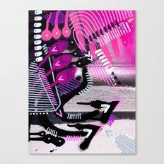 Wave black Canvas Print