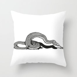 Snake 2 Throw Pillow