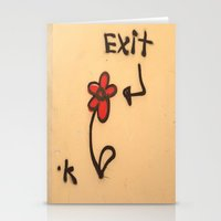 grafitti Stationery Cards featuring Exit Grafitti Flower by Simpson Jane