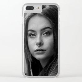 Portrait - In Bath Clear iPhone Case