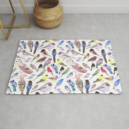 Pet and wild birds of America Rug