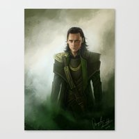 loki Canvas Prints featuring loki by Angela Taratuta