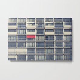 Red Awning Metal Print