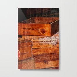 Wine crates Metal Print