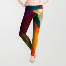 mountain art, geometric art, contemporary art print, modern art print, colorful wall art, midcentury Leggings