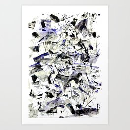 Challigraphy in nature Art Print