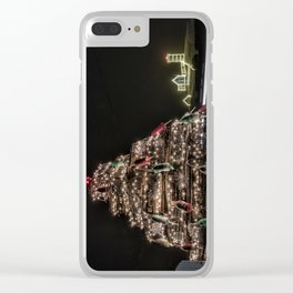 Lobster trap tree at the Nubble Lighthouse Clear iPhone Case