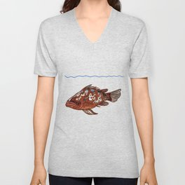 Goliath Grouper Unisex V-Neck