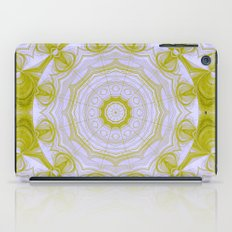 Green and white quilt kaleidoscope iPad Case