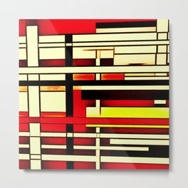 Red Yellow Intersection Metal Print