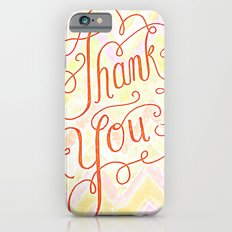Thank you - hand lettered on chevron iPhone 6s Slim Case