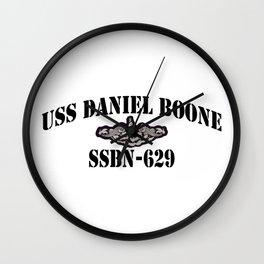 USS DANIEL BOONE (SSBN-629) BLACK LETTERS Wall Clock