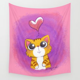 Purrfect Love! Wall Tapestry