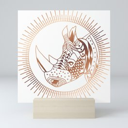 Copper Rhino Mini Art Print