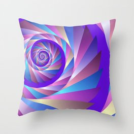 colorful spiral -62- Throw Pillow