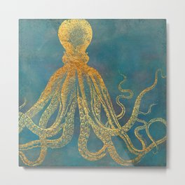 Deep Sea Life Octopus Metal Print