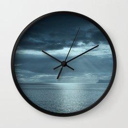 Storm at Fair Head Wall Clock
