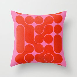 Abstract mid-century shapes no 6 Throw Pillow