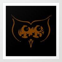 Sketch 56 Owl Art Print