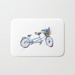 Tandem bicycle Bath Mat