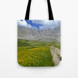 Mayflower Gulch brimming with wildflowers Tote Bag