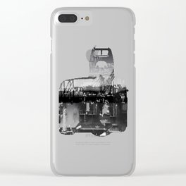 Focused Distraction Clear iPhone Case