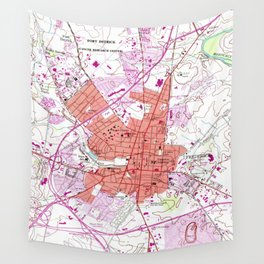 Vintage Map of Frederick Maryland (1953) 2 Wall Tapestry