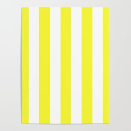 Maximum yellow - solid color - white vertical lines pattern Poster
