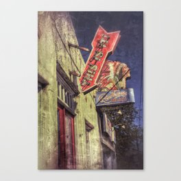 Sign, Roadhouse Relics Canvas Print