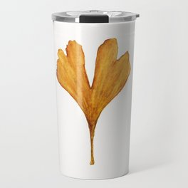 Three Ginkgo Leaves Travel Mug
