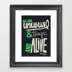 WE ARE Framed Art Print