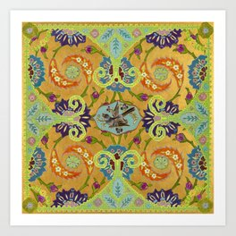 World Quilt - Panel #1 Art Print