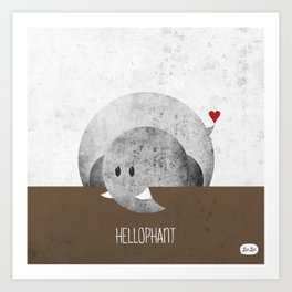 Hellophant Art Print