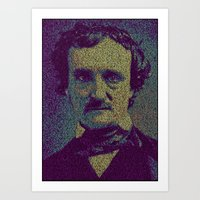 edgar allan poe Art Prints featuring Edgar Allan Poe. by Robotic Ewe
