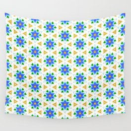 Silent Princess Flower with Golden Triforce Accents Pattern Wall Tapestry