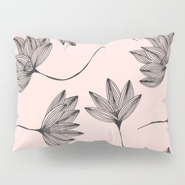 Pink Retro Floral Pattern - Mix and Match with Simplicity of Life Pillow Sham
