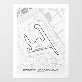 Shanghai International Circuit Jiading China Art Print