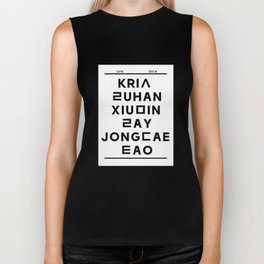 "EXO M- Hangeul: ""Love City"" Inspired Biker Tank"