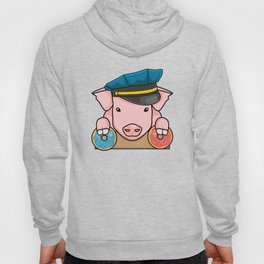 Pig Cop Donut Dougnut Policer Officer Fun Gift Hoody