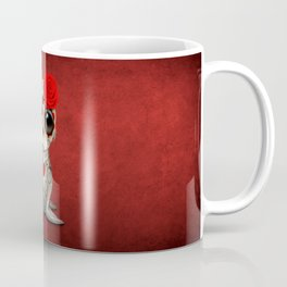 Red Day of the Dead Sugar Skull Sea Lion Baby Coffee Mug