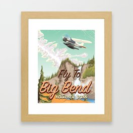 Big Bend National Park USA travel poster Framed Art Print