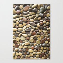 Wall pebble pattern Canvas Print