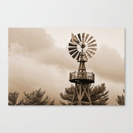 Power Wind Mill Canvas Print
