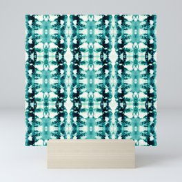 Tie-Dye Teals Mini Art Print