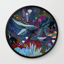 Whale Ocean Life Wall Clock