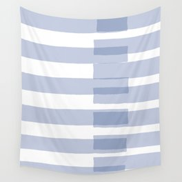 Big Stripes in Light Blue Wall Tapestry