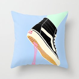 BUBBLE GUM NEVER DIES Throw Pillow